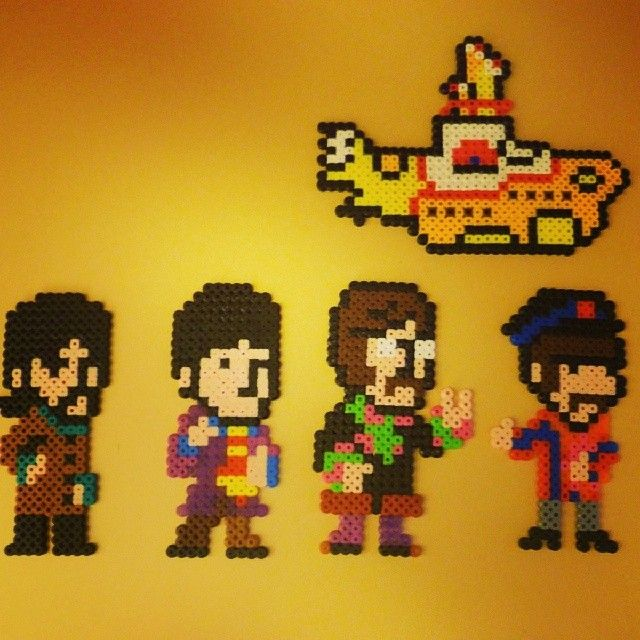 The Beatles Yellow Submarine perler pixel art by juancarlgil