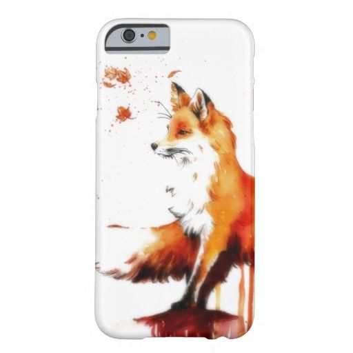 Beautiful Fox in the Fall - This gorgeous, serene, romantic iPhone 6 case shows a fox looking alert with autumn leaves swirling around it.   #iphones #iphone6 #foxes #fallitems