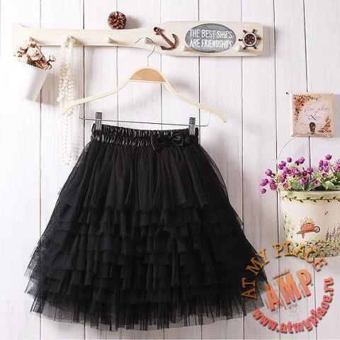 Черная юбка пачка спб