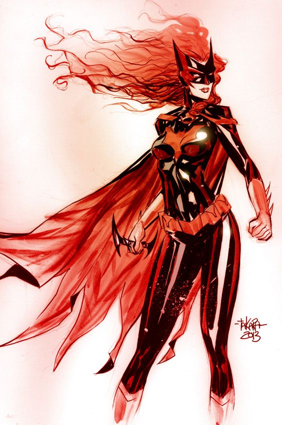 NYCC 2013 Print-Batwoman by Marcio Takara  This could be a pretty amazing tattoo.