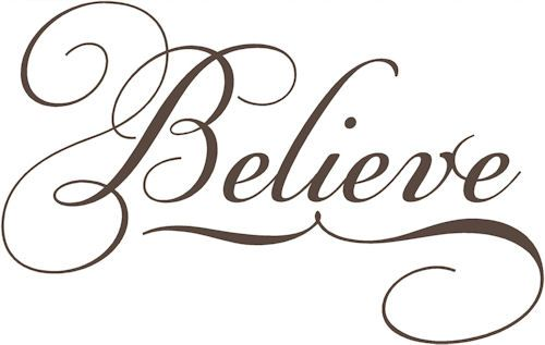 Pics For > The Word Believe In Cursive