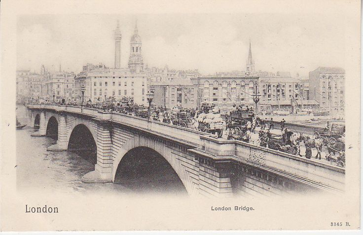 Peacock Brand Postcard - London, London Bridge - 3345B   PC02297