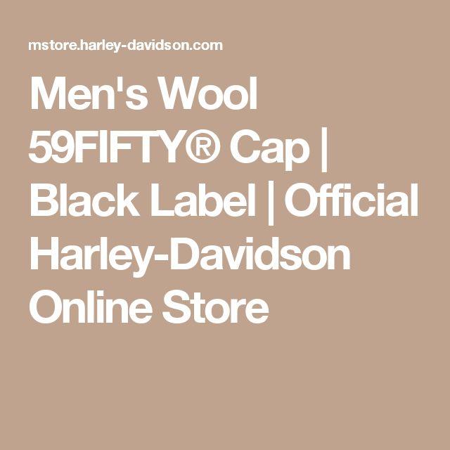 Men's Wool 59FIFTY® Cap | Black Label | Official Harley-Davidson Online Store