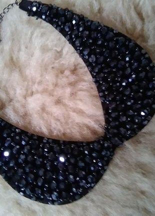 Kup mój przedmiot na #vintedpl http://www.vinted.pl/akcesoria/bizuteria/13831690-sliczny-czarny-naszyjnik-kolnierz-kolnierzyk