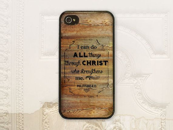 Christian Philippians 4.13 phone case, iPhone 4 4s 5 5s Samsung Galaxy S3 S4, Bible verse Philippians 4:13 Wood C2895 on Etsy, $17.99