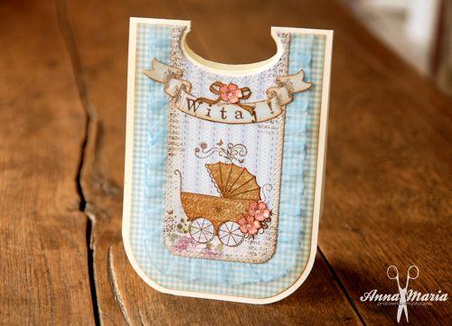 Kartka dziecięca w kształcie śliniaka