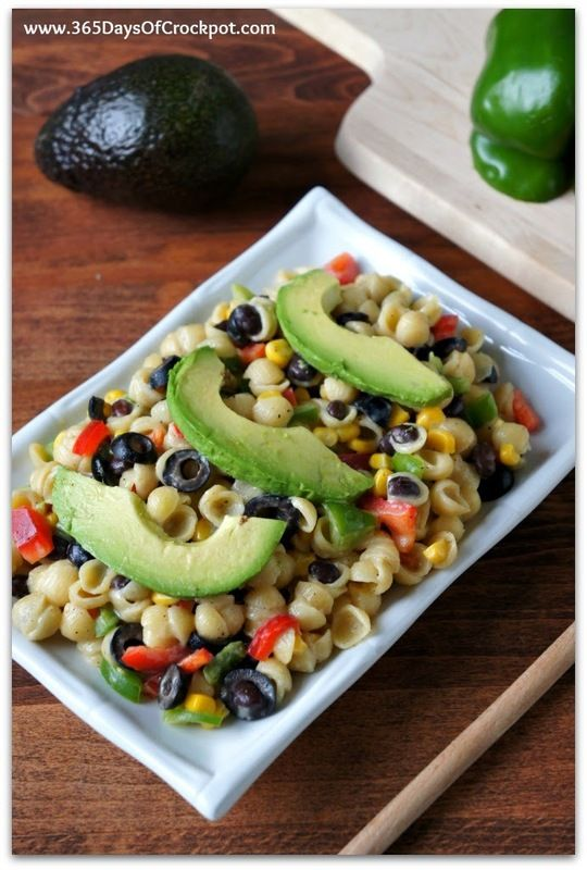 White Cheddar and Pasta Shells with Corn, Peppers and Avocados. Easy dinner idea in 20 minutes! #macnator #sponsored