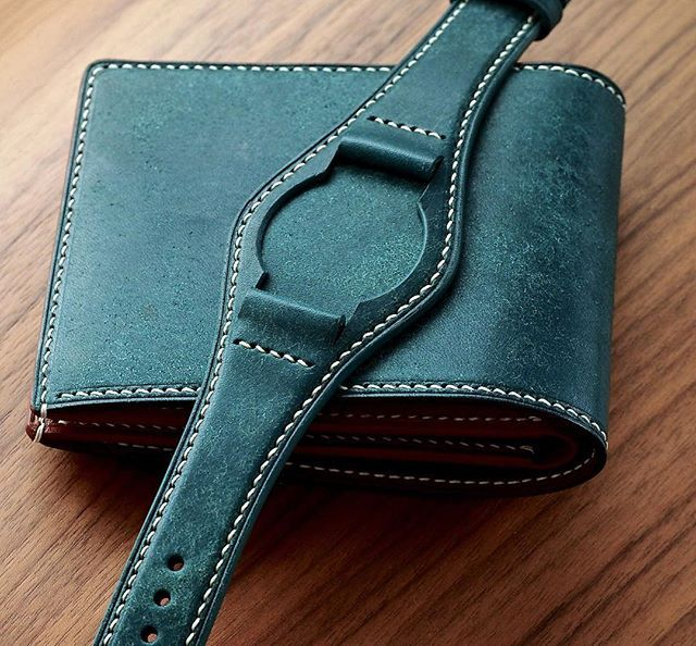 Matching Wallet and the Full Bund Strap in Ortensia to drive your Monday blues away. Have a great week ahead my dear friends . #eatsleeplay #leathergoods #leatherwork #handcrafted #wallet #leatherwallet #bifold #watchstrap #watchband #bundstrap #watchaddict #watchporn #mensaccessories #mensfashion #mensstyle #menswear #gentleman #gentlewoman