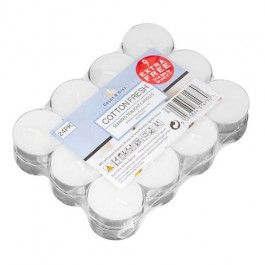 We have a great range of Home Fragrance products, from candles to reed diffusers and incense sticks.  All available in seasonal fragrances or traditional favourites such as Cotton Fresh. This 24 pack of tea lights offers amazing value! Burn time for each candle is approx 3.5 hours.