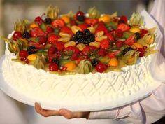Творожно-фруктовый крем для бисквитного торта