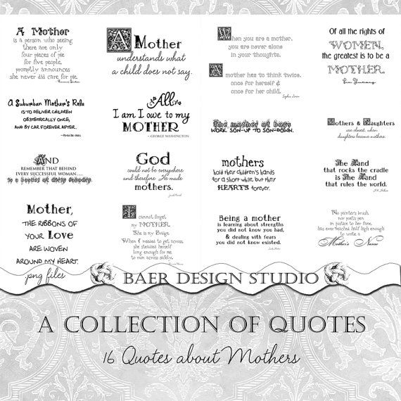 Mother Quotes, Grandmother Quotes, Digital Word Art