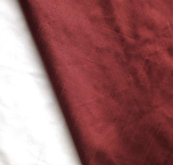 Blood Red Art Silk Fabric By The Yard, Faux Silk Curtain Fabric, Apparel Fabric, Silk Dupioni Fabric, Indian Silk Fabric By The Yard