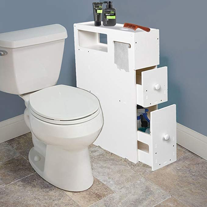 Lanlan Bathroom Cabinet Floor Storage With Drawer Movable Home Bath Toilet Organizer Stand Spa Bathroom Organisation Small Bathroom Organization Small Bathroom