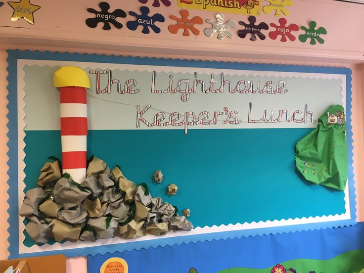 The Lighthouse Keeper's Lunch display board