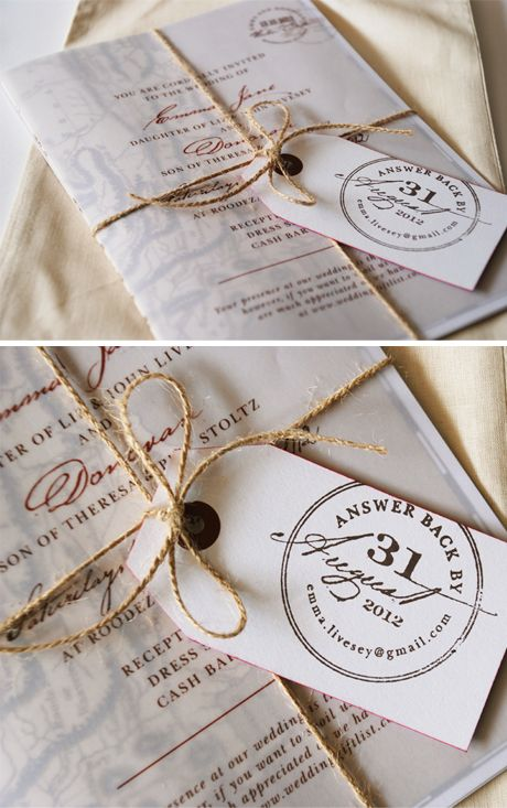 Tag detail, twine, vellum and natural cotton bags - pretties from Seven Swans
