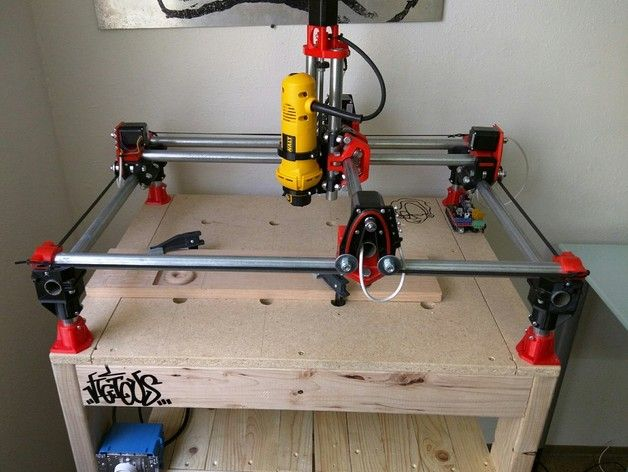 Mostly Printed CNC / MultiTool by Allted Thingiverse
