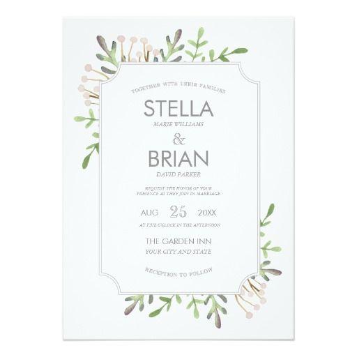 elegant watercolor wedding invitation - Elegant Wedding Invites Coupon