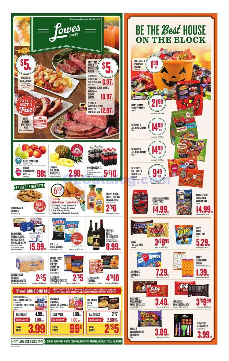 Lowes foods Weekly Ad October 24 30, 2018. View the