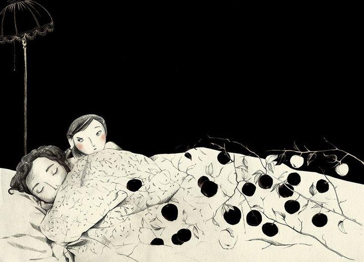 Joanna Rusinek, ilustracje do tekstu Doroty Combrzyńskiej-Nogala we wspólnej książce Bezsenność Jutki, fot. dzięki uprzejmości artystki - photo 2