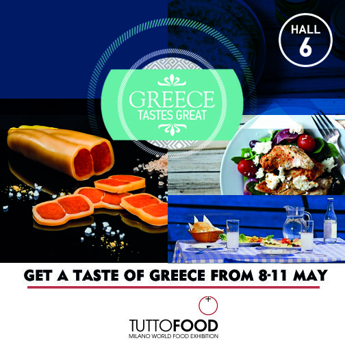 Get the chance to enjoy scents and flavours of Greece. Come and discover the area dedicated to typical greek products at #TUTTOFOOD2017