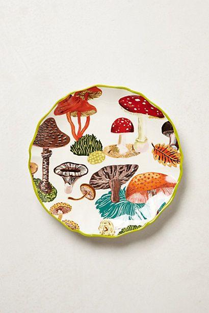 Nathalie Lete Dessert Plate - Mushrooms & Truffles