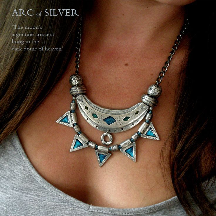 ARC of SILVER Necklace - Silver-plated pewter.