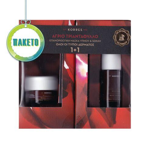 Korre ΠΑΚΕΤΟ Αγριο Τριαντάφυλλο Επανορθωτική Μάσκα Ύπνου 40ml (Όλοι οι Τύποι Δέρματος) & ΔΩΡΟ Serum 30ml | Familypharmacy.gr