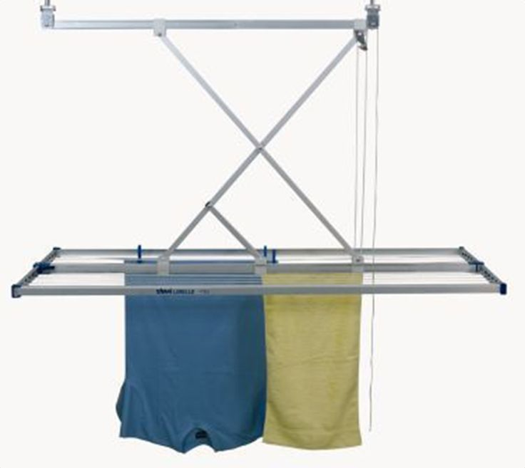 Mount in front of window, between desk & sink.  No more floor racks.   The Libelle Laundry Drying Rack Ceiling Clothes Airer pulls up and down from the ceiling just like a venetian blind. See video - http://urbanclotheslines.com/stewi-libelle-ceiling-clothes-dryer.html