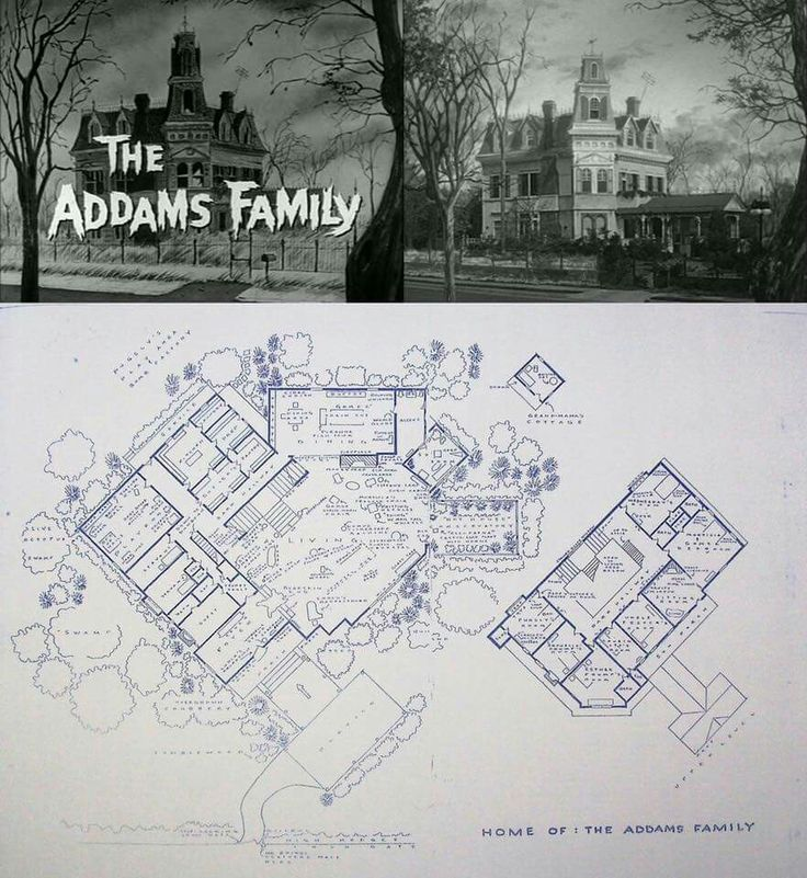 40 best addams family images on pinterest charles addams for Addams family house floor plan