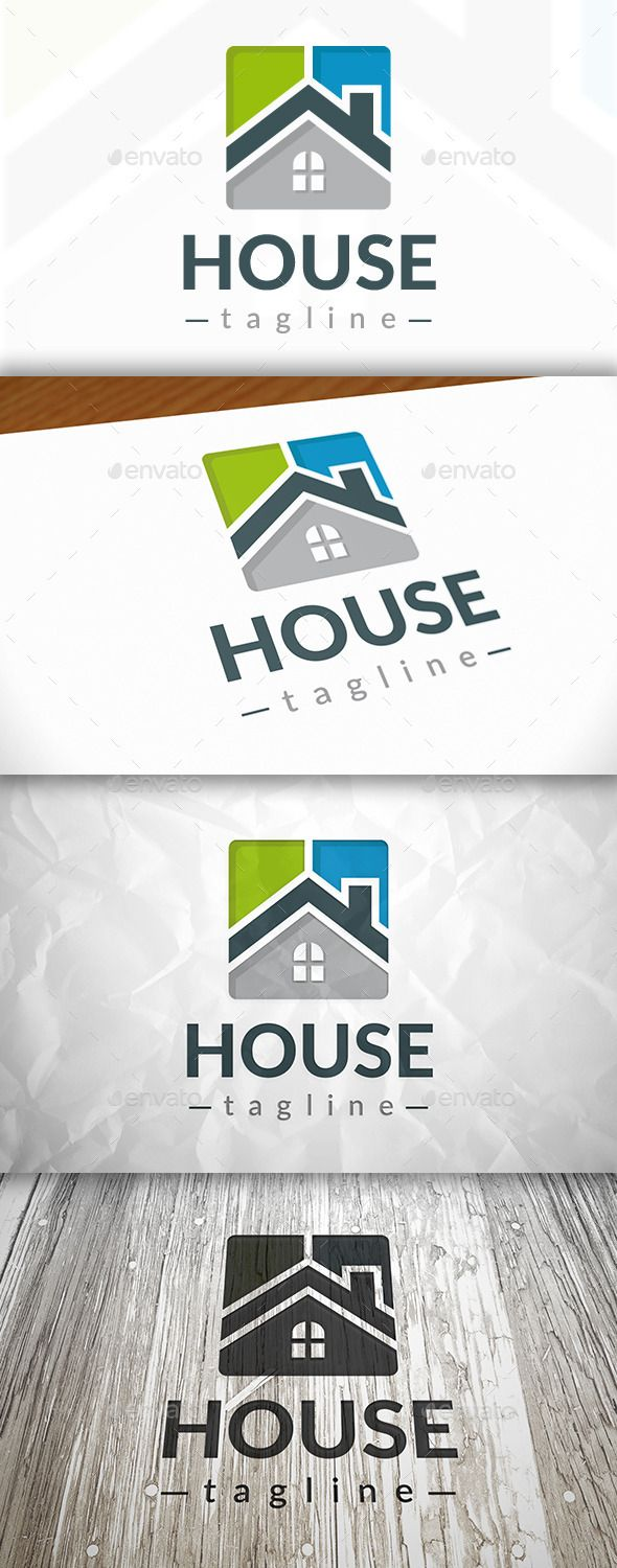 New House Logo — Vector EPS #property #realtor • Available here → https://graphicriver.net/item/new-house-logo/9079920?ref=pxcr