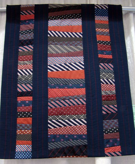DSC07034 Ties That Bind - Giny Dixon by godutchbaby, via Flickr    Quilt made of men's silk ties