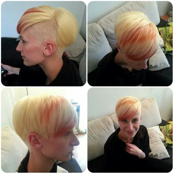 Hair cut and colouring