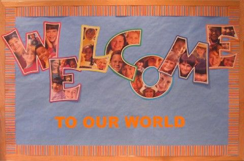 free welcome back to school bulletin boards   Welcome Back Bulletin Board Ideas…