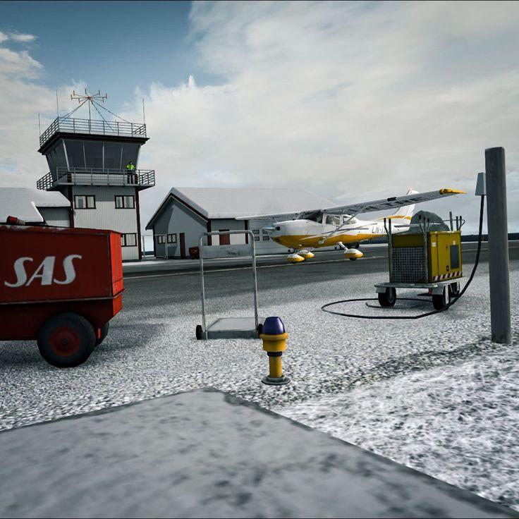 Cessna 182 in Værøy, Norway.