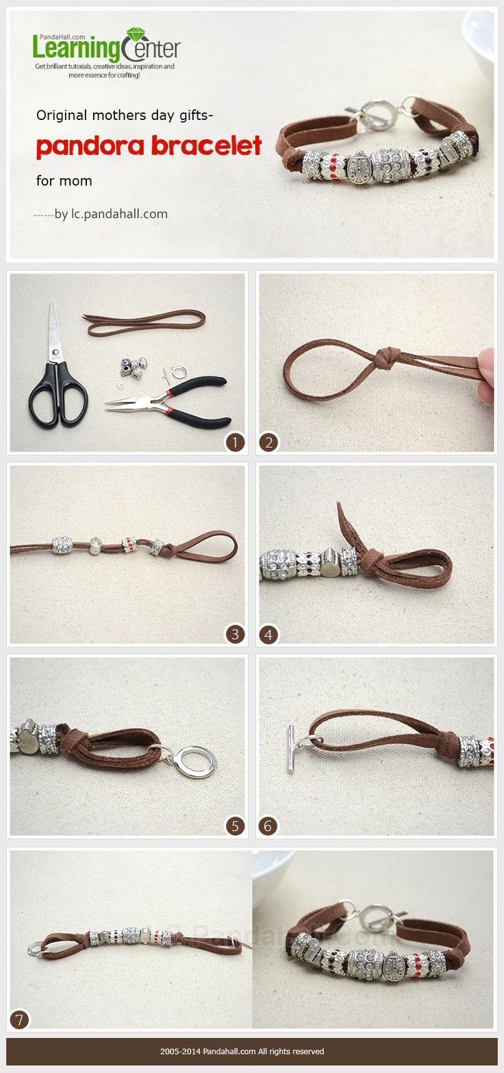 How to Make a Personalized Suede Cord Bracelet with Pandora Beads
