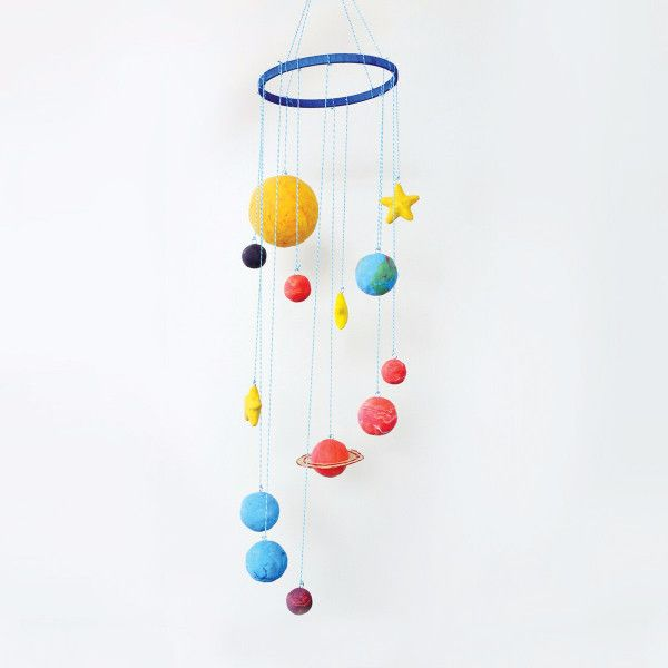 Be the Master of your Own Solar System. Make own with the kids from scratch, using Styrofoam, twine, paint and a cross stitch hoop.