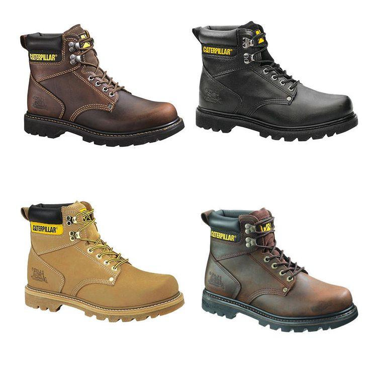 "Caterpillar Mens Second Shift St 6"" Work Boots Black Brown Honey Tan 7 13 | eBay"
