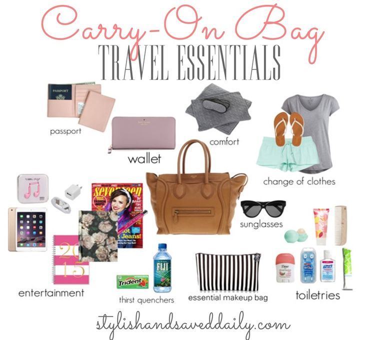 Spring Break Carry-On Bag Travel Essentials! — Stylish & Saved Daily
