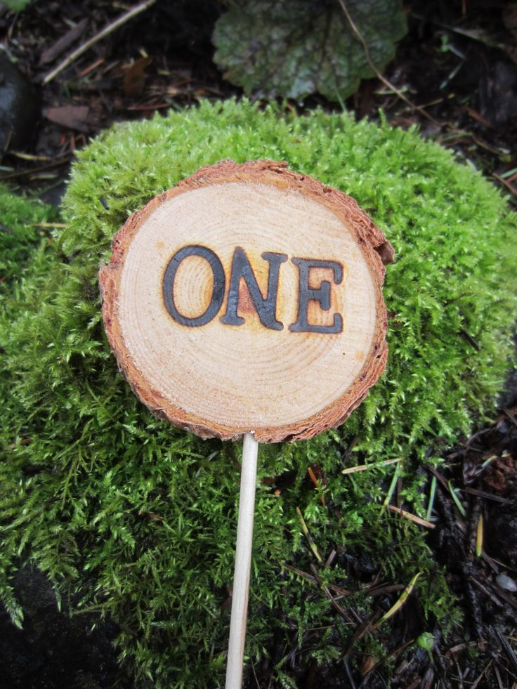Woodland cake topper cake number woodland by PerryhillRustics