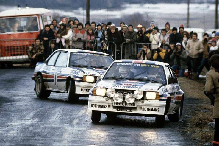 Rally di Montecarlo 1982 2 Opel Ascona 400 W. Rohrl e J. Kleint Chi ha raggiunto l'altro?