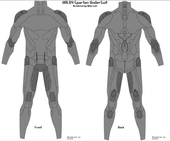 Halo 4 Armor – Undersuit – Update 3