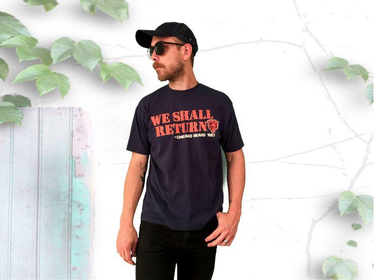 Vintage Chicago Bears T-Shirt - WE SHALL RETURN - 1987 Chicago Bears