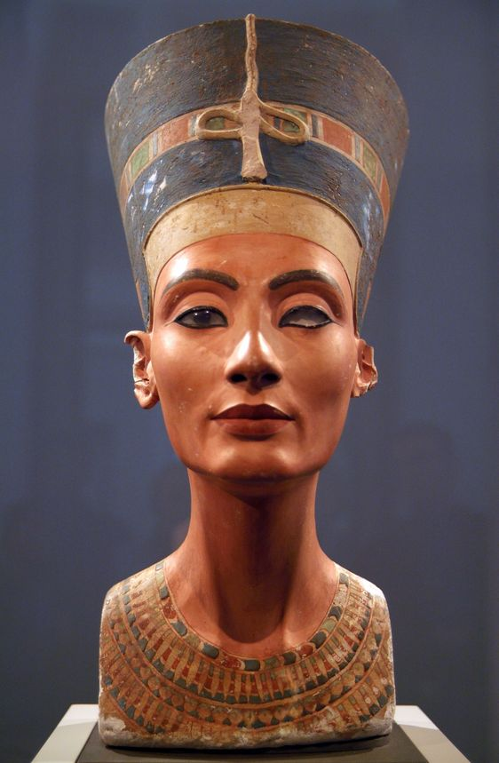 """Nefertiti, Ancient Egyptian Queen The Ancient Egyptian queen's name means """"the beautiful one has come""""."""