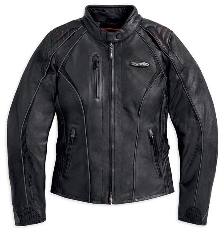 Womens Harley Davidson FXRG Leather Jacket 98034 12VW