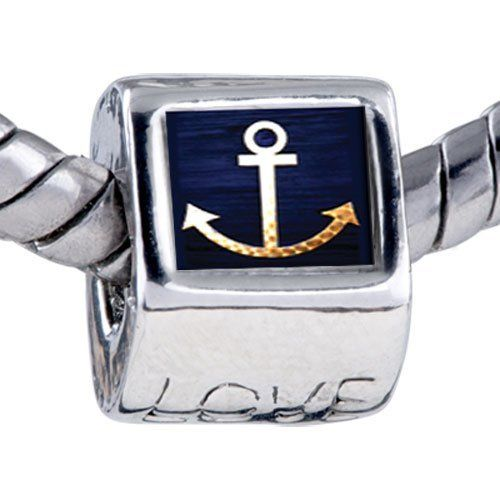 Pugster Bead Anchor Symbol Beads Fits Pandora Bracelet Pugster. $11.24. It's the photo on the love charm. Unthreaded European story bracelet design. Fit Pandora, Biagi, and Chamilia Charm Bead Bracelets. Hole size is approximately 4.8 to 5mm. Bracelet sold separately. Save 10% Off!