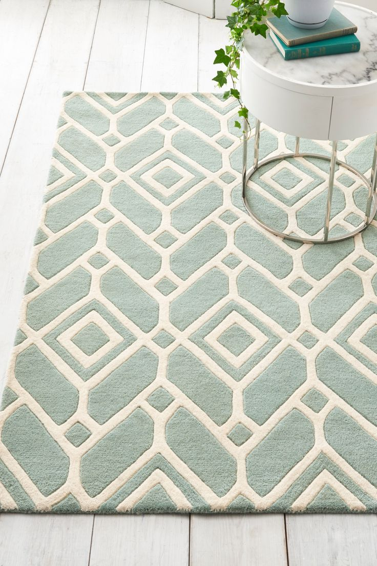 Next Lattice Geo Rug Teal Products In 2019 Rugs