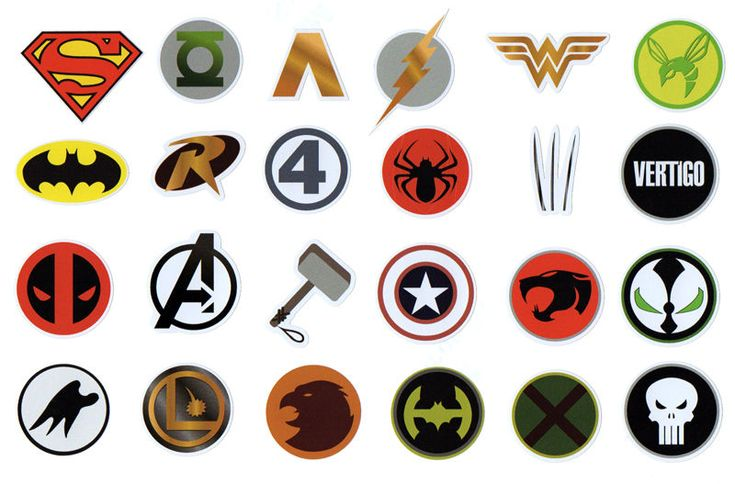 Miscellaneous Comic Book Logos Superhero