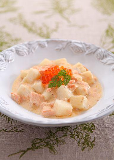 おもちのサーモンクリームソース のレシピ・作り方 │ABCクッキング ... 材料(2人分)