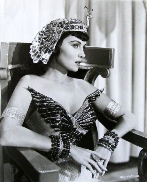 "Rhonda Fleming, ""Serpent of the Nile"" (1953) A little 'underdone' compared to Taylor's epic in the 60's but she is a beauty."