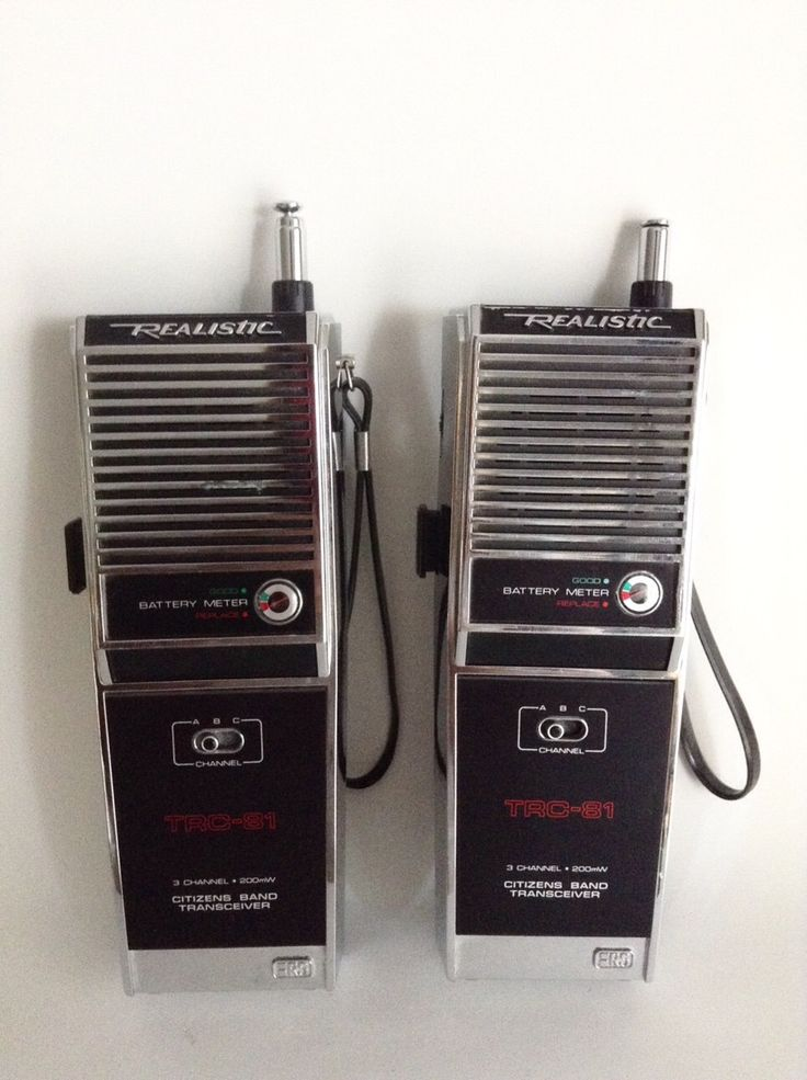 A personal favorite from my Etsy shop https://www.etsy.com/listing/247206693/vintage-walkie-talkies-by-realistic-old